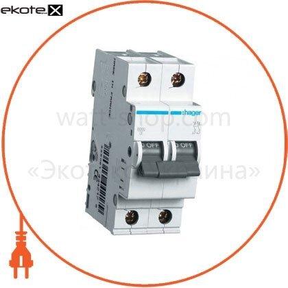 Hager MB250A автоматический выключатель 2p 6ka b-50a 2m