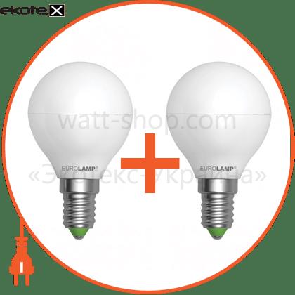 "промо-набір eurolamp led лампа еко серія ""е"" g45 5w e14 3000k акція 1+1 (25) светодиодные лампы eurolamp Eurolamp MLP-LED-G45-05143(E)"