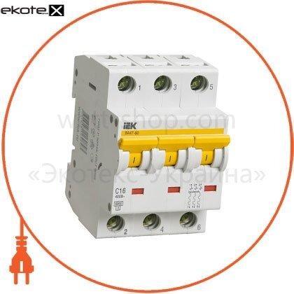 IEK MVA41-3-002-C автоматический выключатель ва47-60 3р 2а 6ка с iek