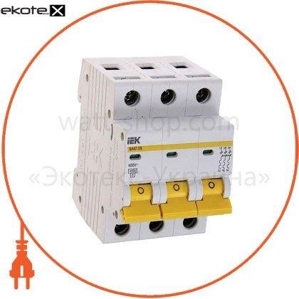 IEK MVA41-3-020-B автоматический выключатель ва47-60 3р 20а 6ка b iek
