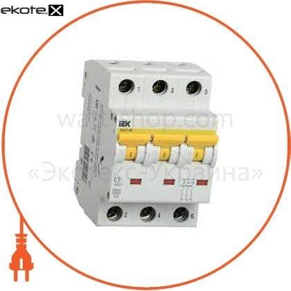 IEK MVA41-3-025-B автоматический выключатель ва47-60 3р 25а 6ка b iek