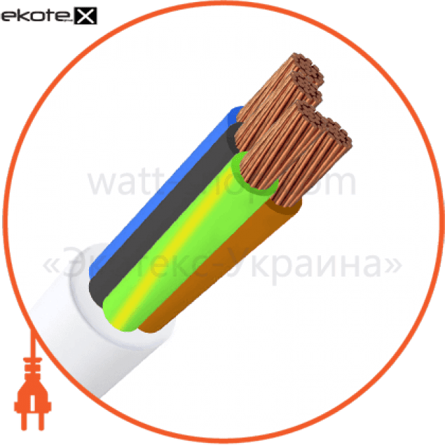 пвс4х10 кабель / провод Азовкабель ПВС4х10