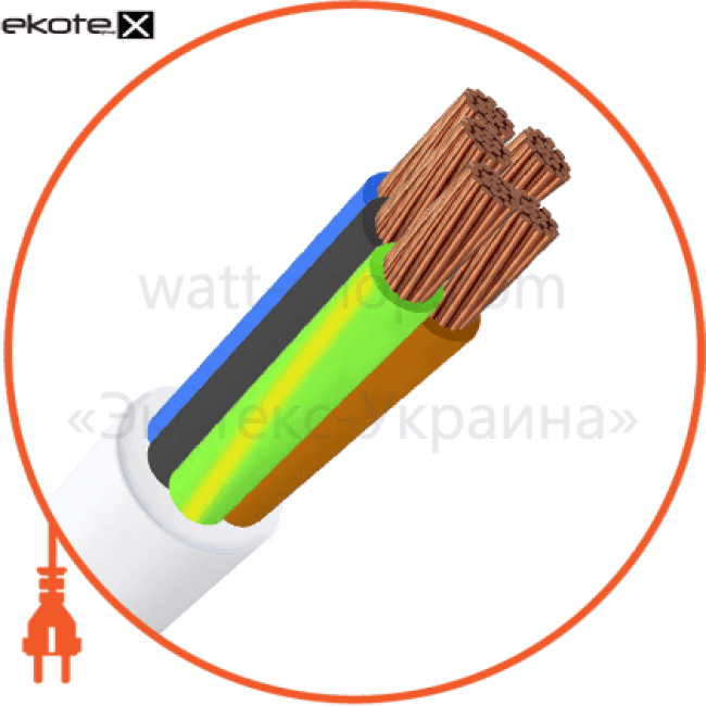 пвс5х1 кабель / провод Азовкабель ПВС5х1