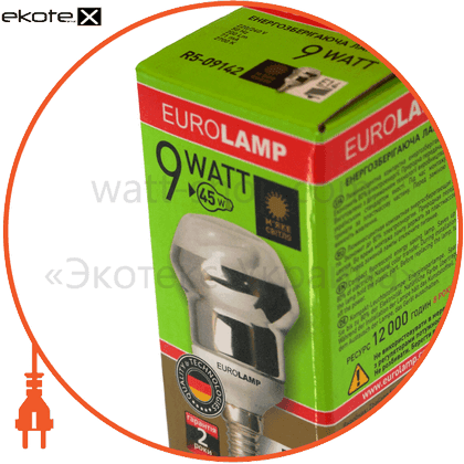 eurolamp клл r50 9w 4100k e14 (50)