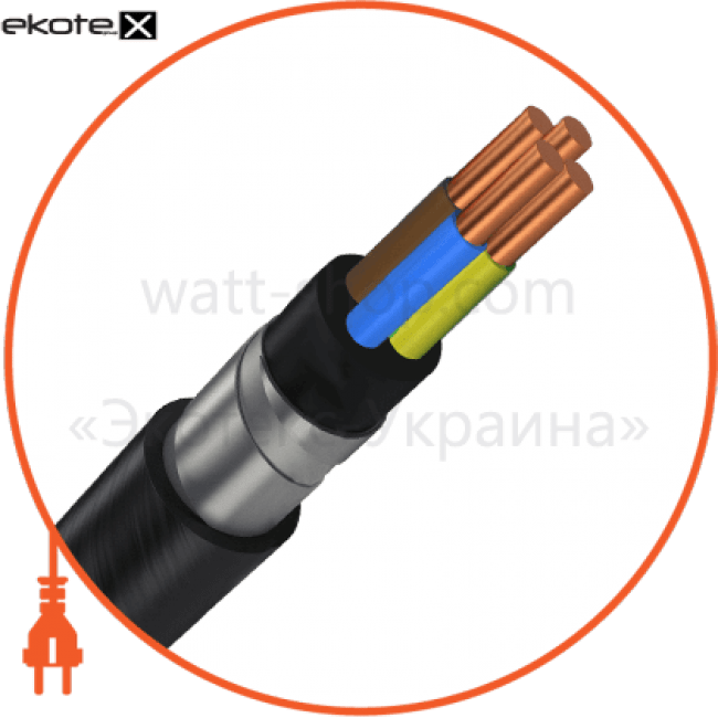 вббшв3х6+1х4 кабель / провод Азовкабель ВБбШв3х6+1х4