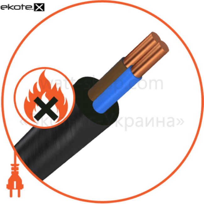 ввгнг-ls2х1,5 кабель и провод Азовкабель ВВГнг-LS2х1,5