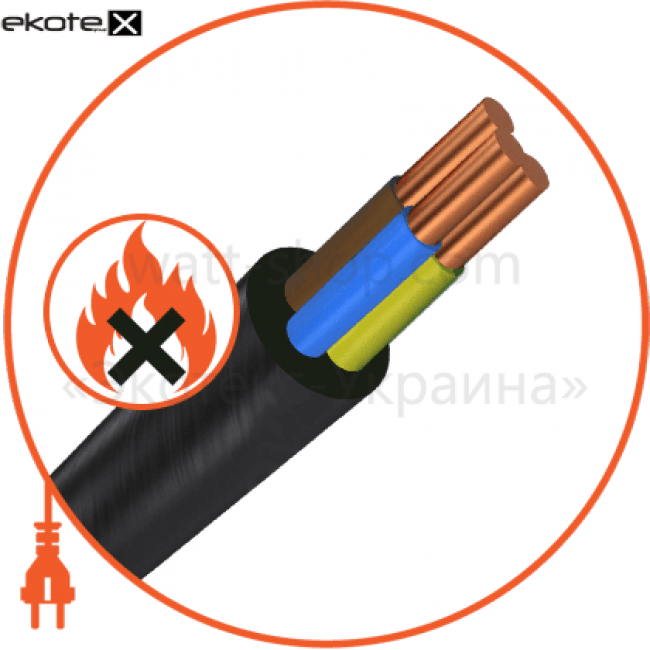 ввгнг-п3х4 кабель / провод Азовкабель ВВГнг-П3х4