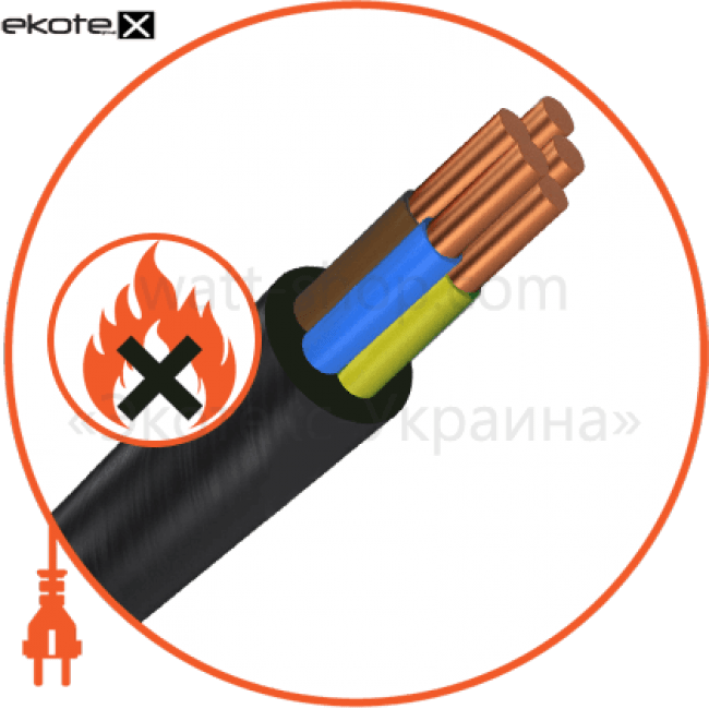 ввгнг-ls5х10 кабель / провод Азовкабель ВВГнг-LS5х10