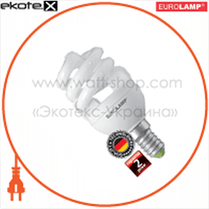 t2 spiral 8w 4100k e14 энергосберегающие лампы eurolamp Eurolamp YJ-08144