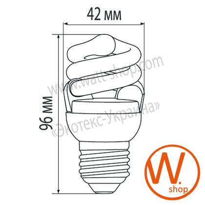 t2 spiral 8w 4100k e27 энергосберегающие лампы eurolamp Eurolamp YJ-08274