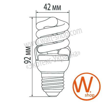 t2 spiral 12w 2700k e27 энергосберегающие лампы eurolamp Eurolamp