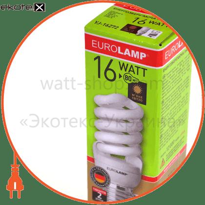 t2 spiral 16w 2700k e27 энергосберегающие лампы eurolamp Eurolamp