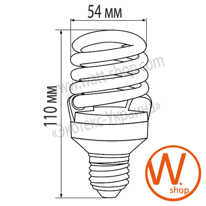"eurolamp клл t2 spiral ""yj"" 21w 4100k e27 (100) энергосберегающие лампы eurolamp Eurolamp YJ-21274"