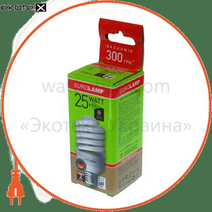 "eurolamp клл t2 spiral ""yj"" 25w 2700k e27 (100)"