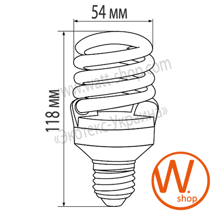 t2 spiral 25w 2700k e27 энергосберегающие лампы eurolamp Eurolamp