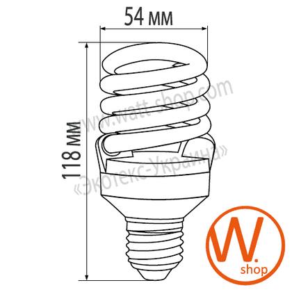 YJ-25274 Eurolamp энергосберегающие лампы eurolamp t2 spiral 25w 4100k e27