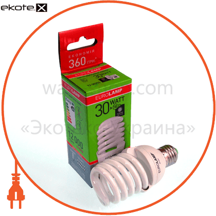 t2 spiral 30w 4100k e27 энергосберегающие лампы eurolamp Eurolamp
