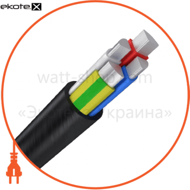 аввг4х25 кабель / провод Азовкабель АВВГ4х25