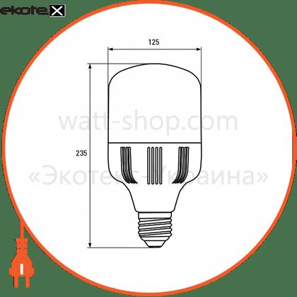 euroelectric led лампа надпотужна plastic 50w e40 6500k (20) светодиодные лампы eurolamp Eurolamp LED-HP-50406(P)