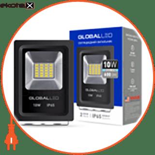 прожектор global, 10вт, 600лм, 5000к, ip65 светодиодные светильники global Global 1-LFL-001