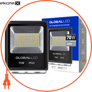 led прожектор global flood light 70w 5000k холодный свет(1-lfl-005) светодиодные светильники global Global 1-LFL-005