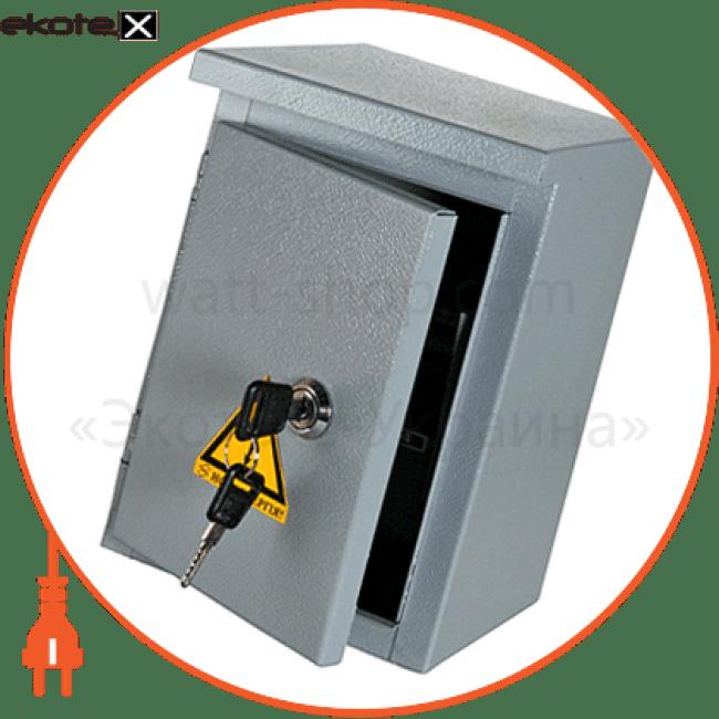 шафа e.mbox.stand.n.06.z металева, під 6мод., герметична ip54, навісна, з замком корпуса металлические модульные Enext s0100128