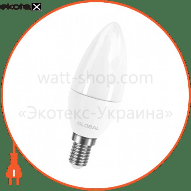 лампа світлодіодна c37 cl-f 5w 3000k 220v e14 ap светодиодные лампы global Global 1-GBL-133-02