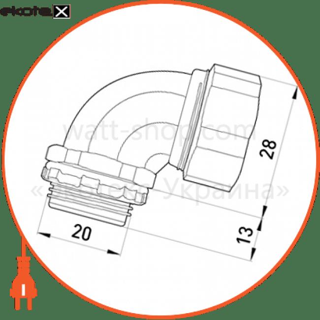 """ввід кутовий e.met.angle.stand.sldx.12 для металорукава 12мм(3/8"""")"""