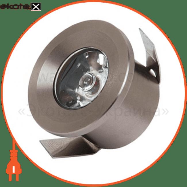 016-003-0001 Horoz Eelectric светодиодные светильники horoz eelectric світильник врізний круг,корпус метал d-33mm ip 20 power led 1w 2700k/4200k/6400k 80lm, колір - мат.хром/хром (220-240v)