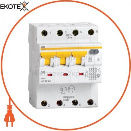 Автоматический выключатель дифференциального тока АВДТ34 C25 100мА IEK