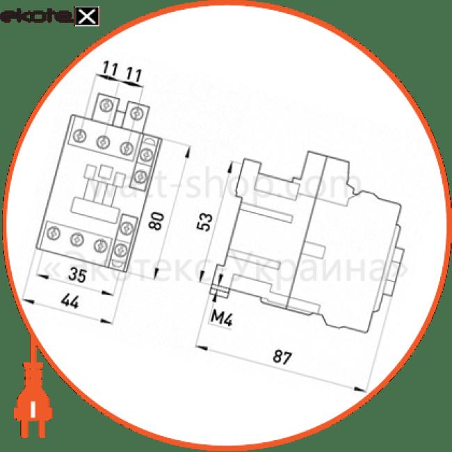 контактор e.industrial.ukc.22.110, 22а, 110в, no+nc контакторы Enext i.0090045
