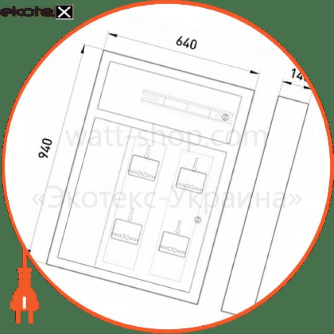 щит поверховий щэ-4-01н під чотири однофазних лічильника, навісний щиты этажные Enext ЩЭ-4-01Н