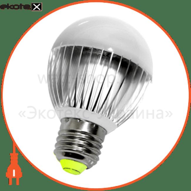 Лампа светодиодная e.save.LED.А60E.E27.6.2700 тип шар, 6Вт, 2700К, Е27 (ал)