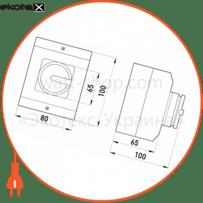 пакетний перемикач в корпусі e.industrial.sb.1-0.4.20, 4р, 20а (0-1) пакетные переключатели Enext i0360008