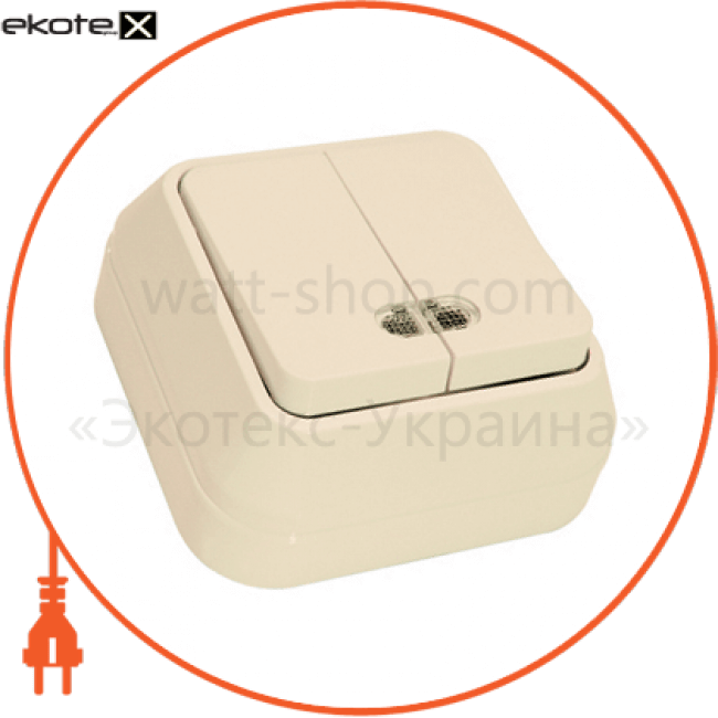 45223 Makel выключатель вимикач 2-клавішний з подсвітл.