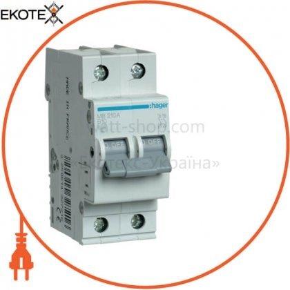 Hager MB210A автоматический выключатель 2p 6ka b-10a 2m
