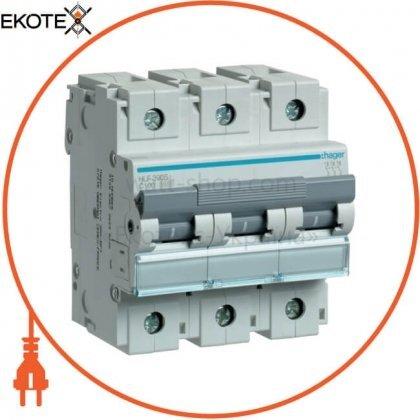 Hager HLF390S автоматический выключатель 3p 10ka c-100a 4.5 m