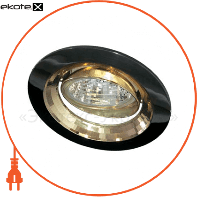 2009dl mr-16 черный металлик-золото /gu5.3/gmg/ gun metal gold