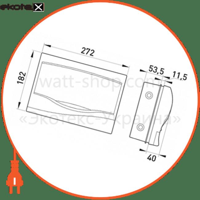 корпус пластиковий 12-модульний e.plbox.stand.w.12m, що вбудовується multusan корпуса пластиковые модульные Enext s0290017