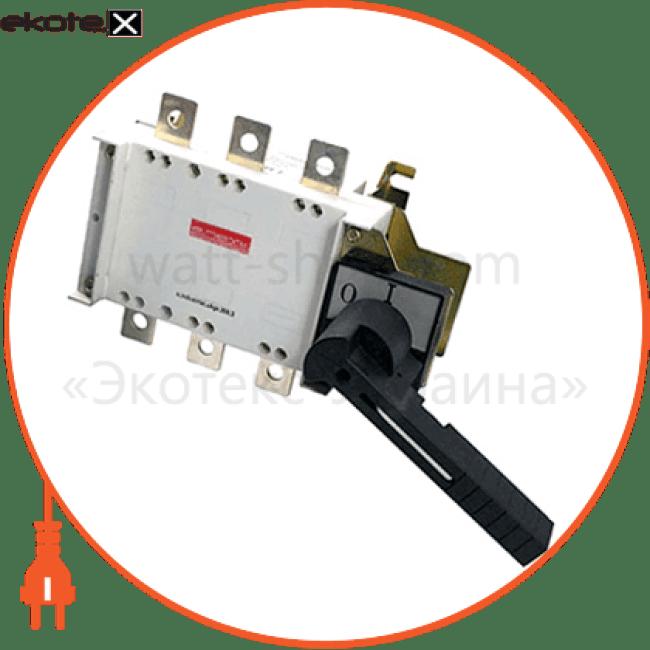 вимикач-роз'єднувач навантаження e.industrial.ukgz.400.3, 3р, 400а, з боковою рукояткою управління выключатели-разъединители Enext i0590014