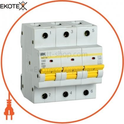 IEK MVA50-3-080-D автоматический выключатель ва47-150 3р 80а 15ка d iek