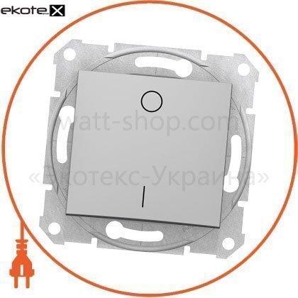 Sedna Переключатель 2 полюсный 10AX, без рамки, алюминиевый