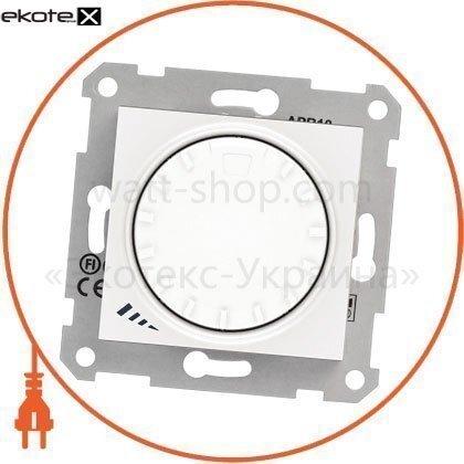 Schneider SDN2200921 sedna светорегулятор поворотно-нажимной, без рамки 1000va белый