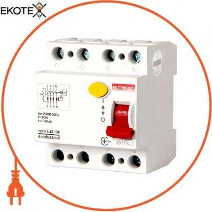 Enext i0220008 выключатель дифференциального тока e.industrial.rccb.4.63.100, 4р, 63а, 100ма