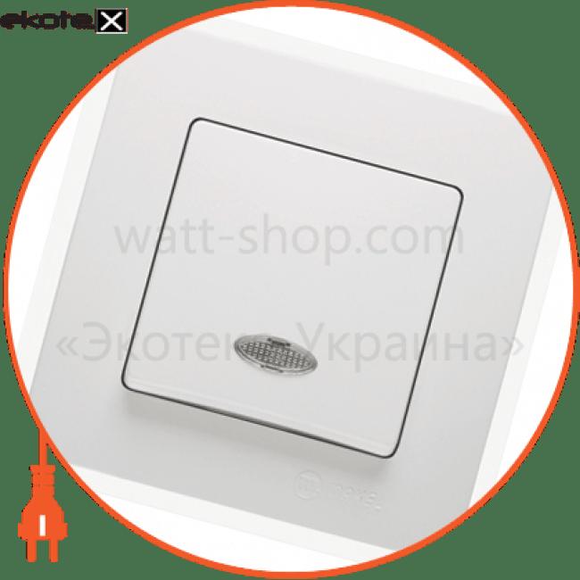 вимикач1-клавішний з підсвітленням выключатель Makel 32001021