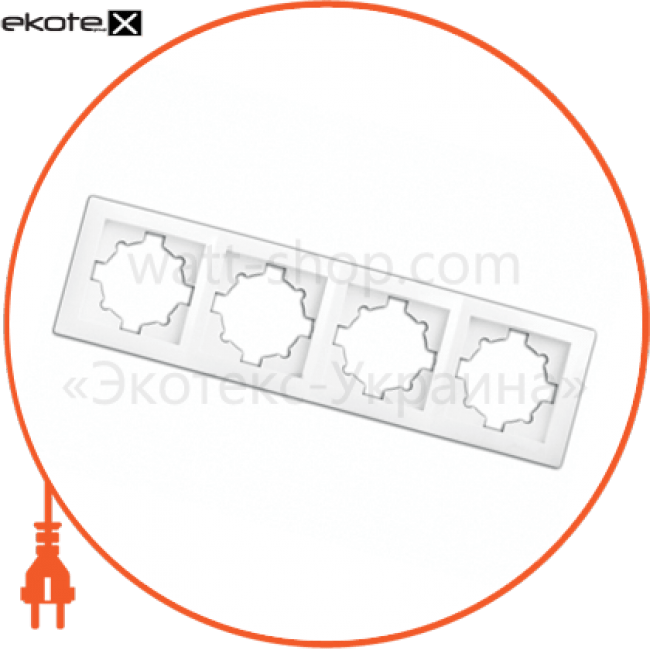 рамка wega 9304 4-секційна біла рамка Delux 10040369