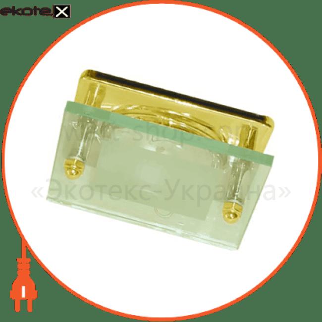 3781 r-50 c/c золото квадрат декоративные светильники Feron 14097