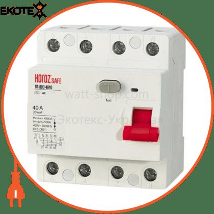 Horoz Electric 114-003-4040 дифференциальный автоматический выключатель 4р 40а 30ma 230v