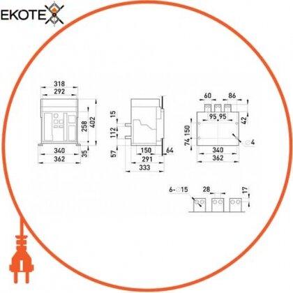 Enext i0810005 воздушный автоматический выключатель e.acb.2000f.2000, стационарный, 3p, 2000a, 65 ка