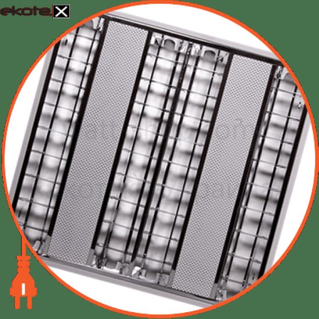 світильник люмінесцентний растровий накладний e.lum.raster.apparent.4.14.el з електронним баластом, лампа т5 4х14w промышленные светильники enext Enext l001202